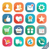 Universal Flat icons for Web and Mobile App. — Stock Vector