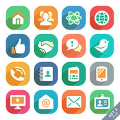 Communication and media Flat icons — Stock Vector