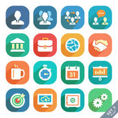 Office and business Flat icons. — Stock Vector