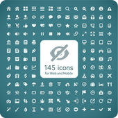Set of 145 quality icons for Web and Mobile. — Stock Vector