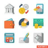 Money Flat icon set — Stock Vector