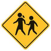 School warning sign — Stock Vector