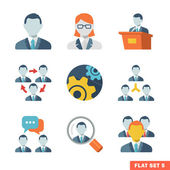 Business people Flat icons — Stock Vector