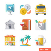 Traveling Flat Icons 1 — Stock Vector