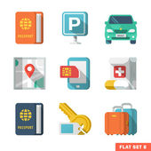 Traveling Flat Icons 2 — Stock Vector