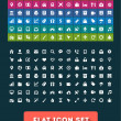Stock Vector: Universal Flat Icon Set. Vector