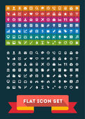 Universal Flat Icon Set. Vector — Stock Vector