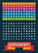Universal Flat Icon Set. Vector — Stock Vector