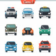 Stock Vector: Car icon set 1