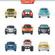 Stock Vector: Car icon set 2