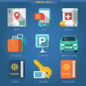 Travel icon set 2 — Stock Vector