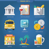 Travel icon set 1 — Stock Vector