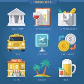 Travel icon set 1 — Stock Vector