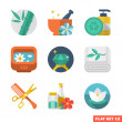 Beauty and Spa Flat icons — Stock Vector #32180533