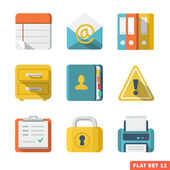 Office Flat icons — Stock Vector
