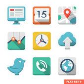 Universal Flat icon set. — Stock Vector