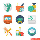 Beauty and Spa Flat icons — Stock Vector