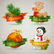 Merry Christmas icons in different languages — Stock Vector