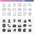 Stock Vector: Universal set 1. Trendy line icons for web and mobile.