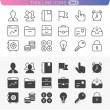 Business and office set. Trendy line icons for web and mobile. N — Wektor stockowy