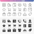 Shopping and money set. Trendy line icons for web and mobile. No — Stockvektor  #39980031