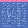 100 thin line icons for Web and Mobile — Vector de stock