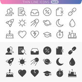 Trendy line icons for web and mobile. Normal and enable state — Stock Vector