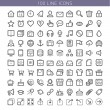 100 line icons — Stock Vector #50412047