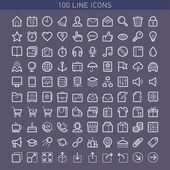 100 line icons — Stockvektor