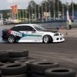 Unknown driver performs drifting demonstration at Third stage of National Drift Championship — Stock Photo #12178906