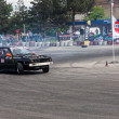 Unknown driver performs drifting demonstration at Third stage of National Drift Championship — Stock Photo #12179008