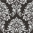 Royalty-Free Stock Vector Image: Seamless wallpaper pattern, black