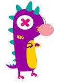 Ejderha, dinozor, kertenkele — Stok Vektör