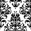 Seamless wallpaper pattern, black — Stockvectorbeeld