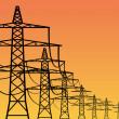 Torres de electricidad — Vector de stock