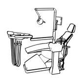 Dentist's chair — Stock Vector