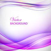 Colorful violet wave illustration — Stock Vector
