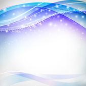 Azules desenfoques con copos de nieve — Vector de stock