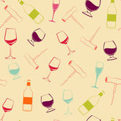 Wine pattern — Stock Vector