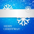 Blue Christmas card — Stock Vector