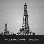 Sketch of oil rig — Stock vektor