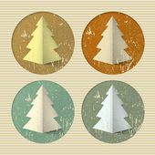 Icons made of spruce — Stock Vector