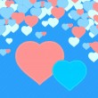 Hearts background — Imagen vectorial