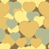 Yellow hearts background — Vettoriale Stock