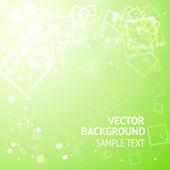 Zelené pozadí s čtverečky — Stock vektor
