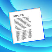 Champ de texte sur bleu — Vecteur