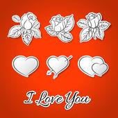 I love you! Valentine's Day. — Stock Vector