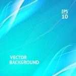 abstracto con líneas suaves y azules — Vector de stock