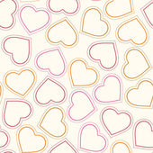 Seamless pattern with hearts — Stock Vector
