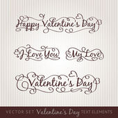 Happy valentine's day hand lettering. — Stock Vector